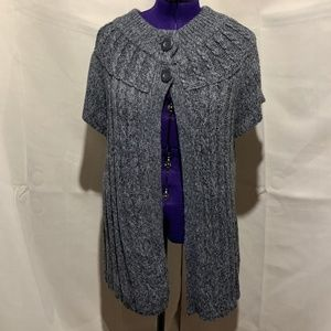 Sonoma Brown Short Sleeve Two Button cardigan